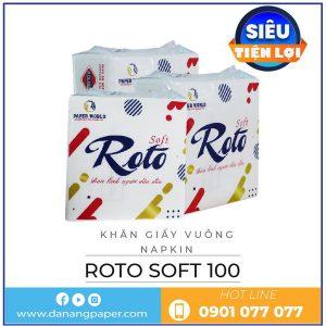 Cung cấp khăn giấy vuông napkin roto soft100-danangpaper.com