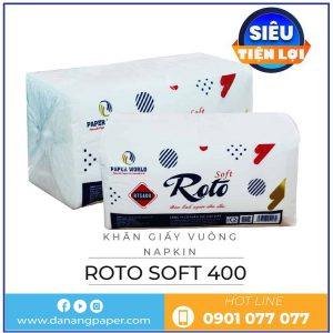 Cung cấp khăn giấy vuông napkin RTS400-danangpaper.com
