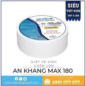 Nơi mua giấy vệ sinh cuộn lớn An Khang Max180-Danangpaper.com