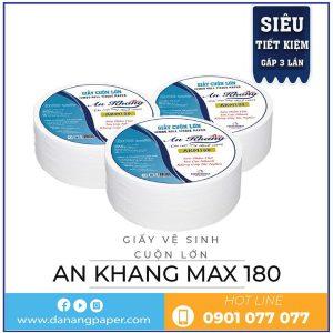 Cung cấp giấy vệ sinh cuộn lớn An Khang max180-Danangpaper.com
