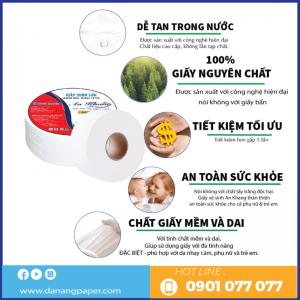 Ưu điểm giấy vệ sinh cuộn lớn An Khang Max210-Danangpaper.com