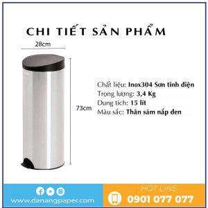 Chi tiết sản phẩm thùng rác inox rdtl9019-danangpaper.com