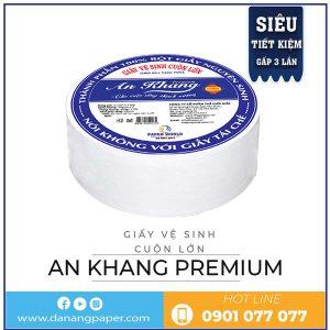 giấy vệ sinh cuộn lớn an khang premium